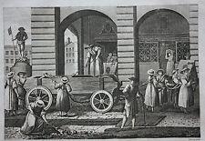 Original antique print PUNISHMENT OF PROSTITUTES, SWITZERLAND, Cooke c.1810
