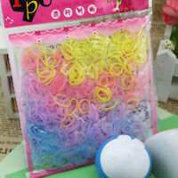 Adjustable Elastic Girl Rubber Hair Ties Bands Rope for Girl Kid 400-500 Pcs LJ