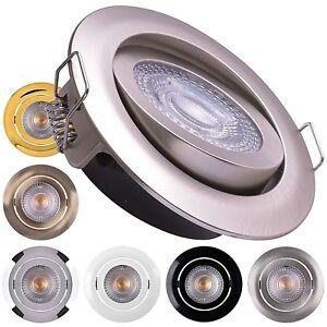 LED Einbaustrahler flach LUMIRA 5W warmweiß Einbauspot Deckenstrahler Deckenspot