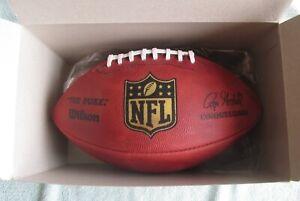 """OFFICIAL WILSON """"THE DUKE"""" NFL GAME FOOTBALL ROGER GOODELL COMMISSIONER IN BOX"""
