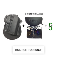 BUNDLE Fobus KM-3 Black Polymer Paddle Holster for Kimber Ultra Carry 3 inch