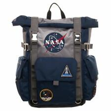 NASA Backpack Meatball Logo Roll Top Built Up Space Laptop Bag