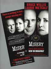"Bruce Willis ""MISERY"" Laurie Metcalf / William Goldman / Stephen King 2015 Flyer"
