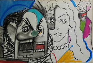PAINTING signed GEORGE CONDO
