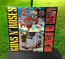 GUNS N' ROSES VERY RARE STILL SEALED 1987 BANNED COVER APPETITE FOR DESTRUCTION