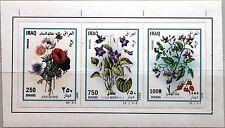 IRAQ IRAK 2007 FB 1734-36 Blumen Flowers Flora Pflanzen Plants Veilchen Rose MNH