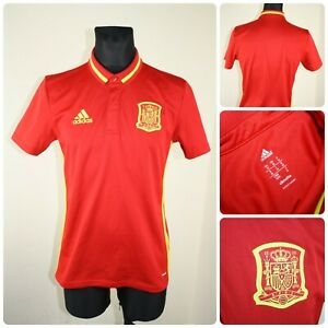 ADIDAS Men's size MEDIUM SPAIN Football Polo neck T-shirt / Jersey