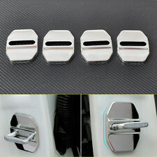 New 4x Stainless Car Door Striker Cover Lock Buckle Cap Protector Antirust Case