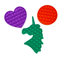 Push Pop Bubble Sensory Fidget Toys x3 Kids Stress Relief Autism Bundle Pack Set