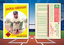 1959 Topps Style JACKIE ROBINSON Custom Artist Novelty Baseball Card