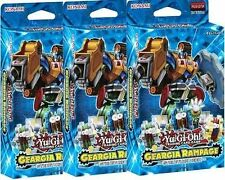 Yu-Gi-Oh THREE 3 X Geargia Rampage Structure Deck 1st Ed - Factory Sealed