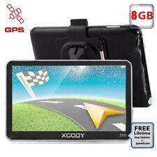 XGODY 5'' GPS SAT NAV With Lifetime AU&Full EU Maps + Sunshade Bluetooth FM 8GB