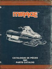 1983 MOTO-SKI MIRAGE SNOWMOBILE PARTS MANUAL P/N 480 1170 00 (709)