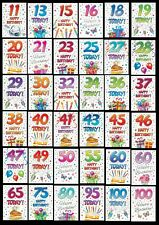 AGE 11 to 100 ~ BIRTHDAY CARD - From THAT FUNNY AGE Collection