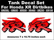 Tank decals for Honda XR650L XR600 XR500 XR400 XR250 XR100 dirtbikes