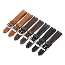 18mm-22mm Genuine French Calfskin Leather Watch Band Tan Clasp Strap For Tissot