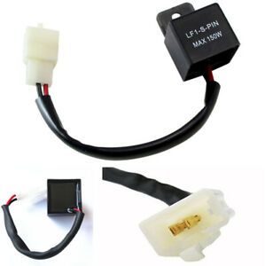 2-Pin Electronic LED Flasher Relay Fix Motorcycle Turn Signal Lights Hyper Fla