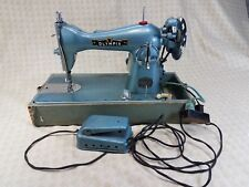 Olympia Deluxe Sewing Machine Precision Built Made in Japan Vintage Blue