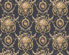 Barock Satin Tapete 9549-32  954932   Chateau 4  Grau Gold