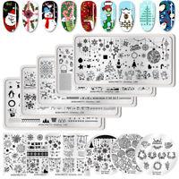 BORN PRETTY Christmas Nail Stamping Plates Nail Art Stamp Image Templates Decor