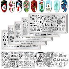 BORN PRETTY Weihnachten Nagel Stempel Schablone Nail Stamping Plates Schablonen