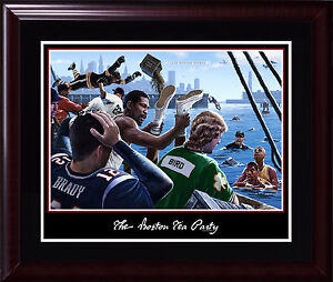 Boston Tea Party 16x20 photo framed Red Sox Celtics Patriots Tom Brady