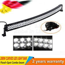 "50"" 288w Incurvée barre de led 4x4 offroad Jeep rampe Phare de Travail Light bar"