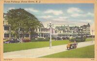Ocean Grove, NEW JERSEY - Ocean Pathway - 1951 - old cars