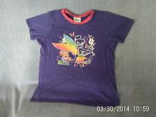 Girls 11-12 Years - Purple Short Sleeve - Disney Fairy Tinkerbell - 'Relax'