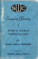 Glossary of Wire Cable Terms Standard Asbestos 1969 Aircraft Aviation Electrical