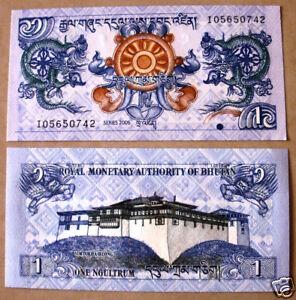 BHUTAN  1 ngultrum UNC 2006-2013