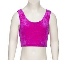 All Colours Dance Gymnastics Velour Velvet Crop Top KCTV2 By Katz Dancewear