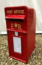 British Post Box Royal Mail Pillar Cast Iron Post Office - ER Red