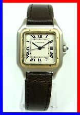 Ladies CARTIER PANTHERE Steel - Gold Roman Numeral dial Watch Ref 1100, 27 mm!