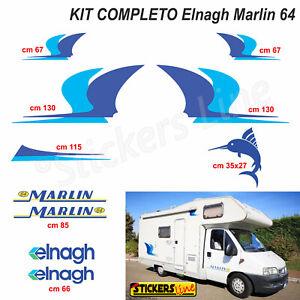 Kit completo adesivi per Camper ELNAGH Marlin 64 - Linea Professionale -