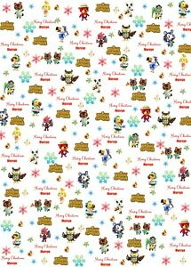 Personalised Animal Crossing Christmas Wrapping Paper