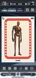 Topps Star Wars Digital Card Trader Rogue One Red Classic Art K-2SO Insert