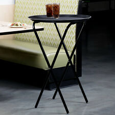 """Restaurant Catering 36"""" Black Metal Dining Room Folding Tray Stand"""