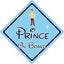 Disney Prince On Board Car Sign – Baby On Board – Cinderella Prince Charming