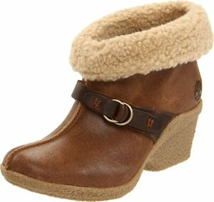 Timberland Bayden Heel Women's Leather Ankle Boots Fleece Brown 17669 UK Size 4