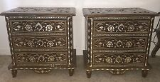 old Vintage Syrian style inlaid mother of pearl 2  tables c.1980's