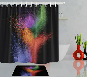 """71"""" Abstract Color Art Polyester Fabric Shower Curtain Bathroom Accessory Sets"""