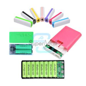 1X/2X/4X/8X 12000mAh USB 5V Power Bank Battery Charger DIY f/ 18650 Mobile Phone