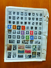 France Stamps on old Page B
