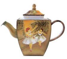 Charlotte Di Vita Miniature Teapot Two Dancers On Stage Edgar Degas