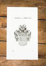 1826 Wappen von Marsigli Kupferstich Tyroff