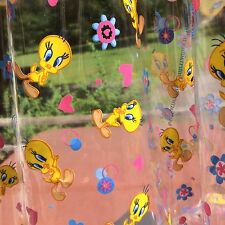 Tweety Bird Clear Vinyl Fabric Looney Tunes Warner Bros 35x57 Crafts Kids Cover