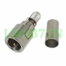5pcs Connector FME male plug crimp RG58 RG142 LMR195 RG400 cable