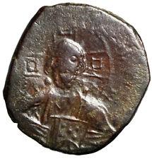 "Byzantine Empire Christ Follis ""Portrait & Jesus King of Kings Legends"" Fine"