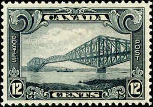 Canada Mint H 1929 12c F-VF Scott #156 King George V Scroll Stamp